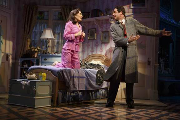 "Laura Benanti and Zachary Levi in a new production of ""She Loves Me."""