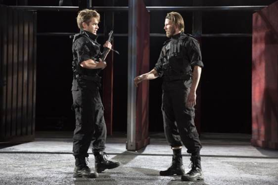 Andrew Burnap and Bill Heck star in William Shakespeare's Troilus and Cressida, directed by Daniel Sullivan, for the Public Theater's Shakespeare in the Park at the Delacorte Theater.